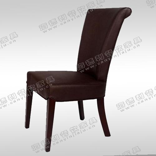 欧式新古典火锅店餐椅 沙发椅酒店餐厅椅子 样板房实木椅子售楼部椅子
