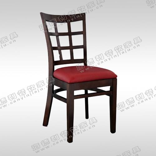 高背餐椅 时尚酒店欧式火锅店实木椅子 咖啡休闲现代简约椅子