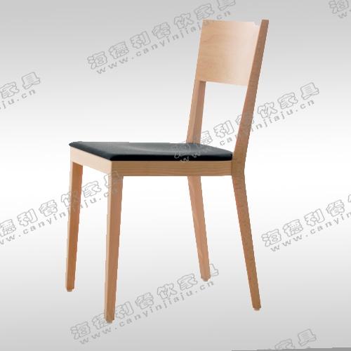 北欧宜家椅 实木餐椅 水曲柳开放漆胡桃木酒店椅咖啡围椅简约时尚火锅椅