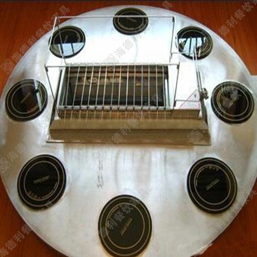 无烟自助火锅烧烤一体桌 火锅烧烤一体桌 电磁炉火锅烧烤一体桌 烤涮一体桌
