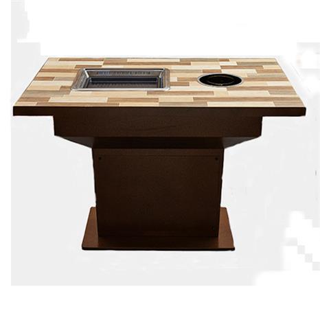 韩式无烟自助烧烤陶瓷瓷砖台面烤肉火锅一体桌