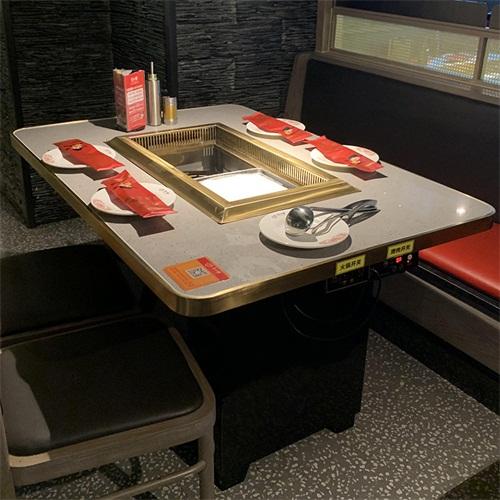 大理石烤涮一体桌
