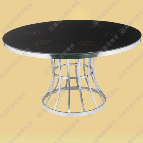 钢化玻璃火锅桌椅 电磁炉火锅桌 厂家直销 可定制