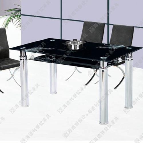 厂家直销钢化玻璃火锅桌椅 电磁炉火锅桌 刘一手火锅店火锅桌定做