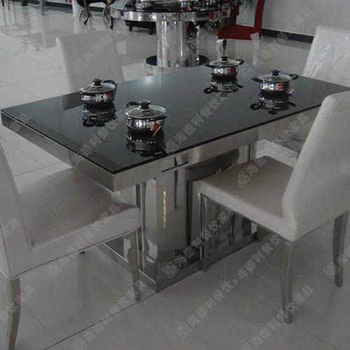 火锅桌厂家批发钢化玻璃火锅桌电磁炉火锅桌一人一锅小火锅桌椅