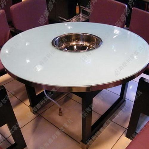 2015新品特价电磁炉火锅桌餐桌煤气灶燃气灶折叠餐桌圆桌火锅店餐桌椅