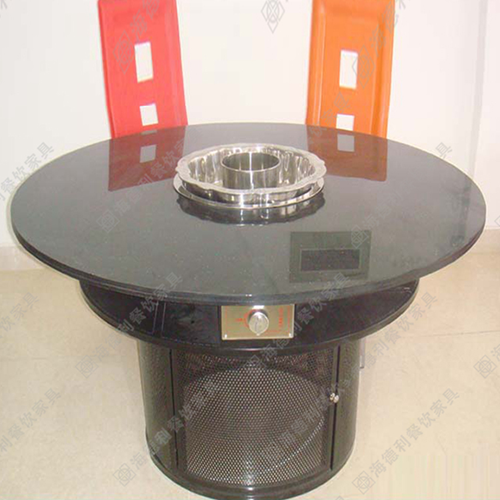 厂家直销火锅桌子钢化玻璃火锅桌子燃气灶火锅桌椅电磁炉无烟火锅桌子