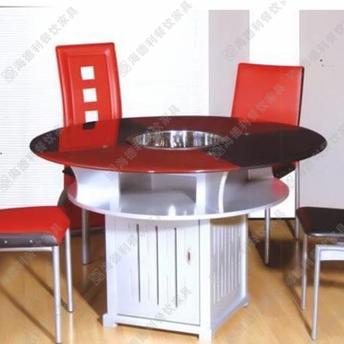 厂家直销火锅桌 电磁炉火锅桌 不锈钢火锅桌