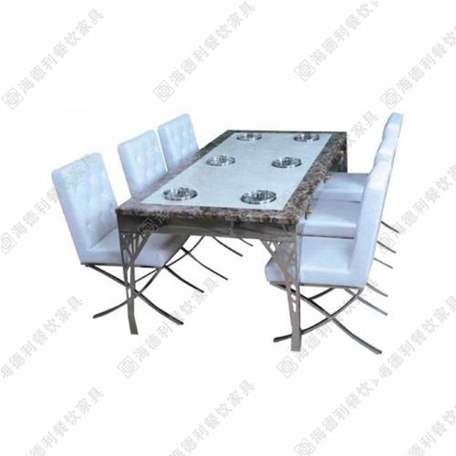 火锅桌 不锈钢火锅桌 钢化玻璃火锅桌 电磁炉火锅桌可定制