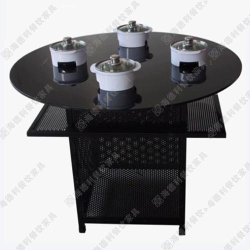 火锅桌 不锈钢火锅桌 钢化玻璃火锅桌 大理石电磁炉火锅桌可定制