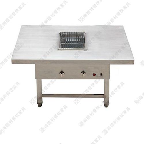 不锈钢火锅桌 实木烧烤店烤肉店火锅桌椅厂家定做