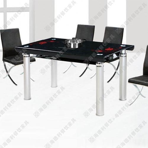 电磁炉火锅桌 不锈钢火锅桌