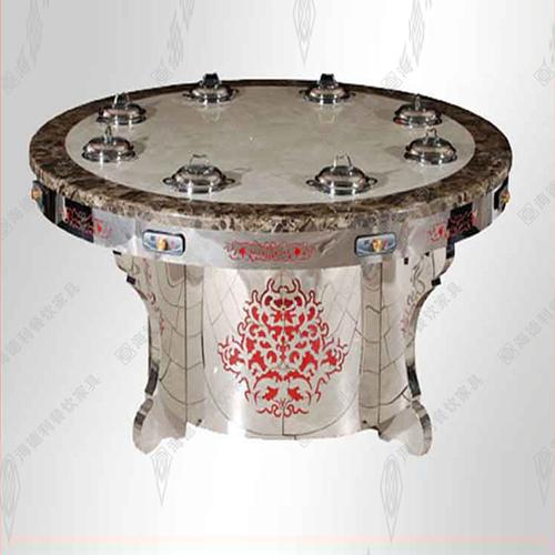 火锅桌 火锅店桌子 不锈钢火锅桌 电动餐桌 钢化玻璃火锅桌