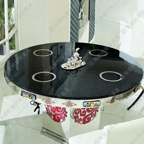 厂家直销不锈钢火锅桌椅电磁炉火锅桌圆桌定做
