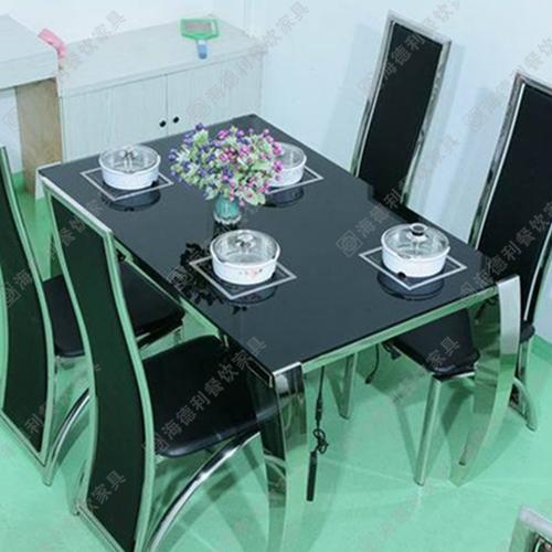 特价销售电磁炉火锅桌椅 小肥羊火锅桌不锈钢火锅桌