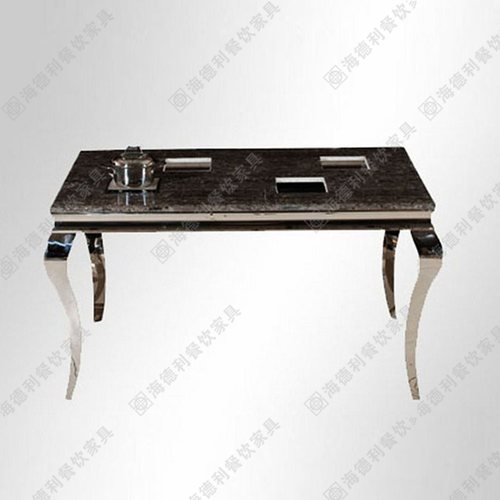 火锅桌厂家直销钢化玻璃火锅台配套火锅桌椅子电磁炉多人位小火锅