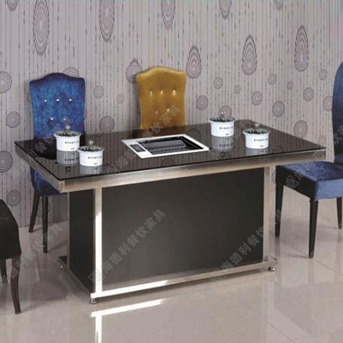 韩式汉釜宫火锅烧烤两用桌 多功能烧烤桌 两用烧烤桌 无烟烧烤两用桌
