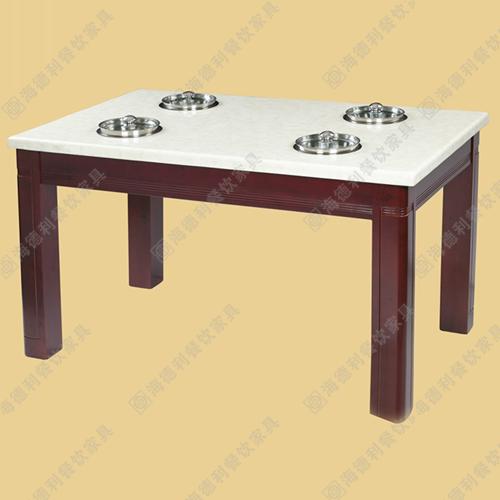 大理石火锅桌椅批发电磁炉火锅桌子方餐桌小火锅桌椅组合厂家直销
