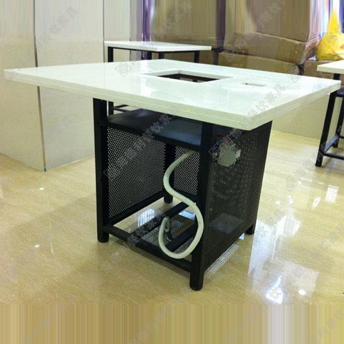 火锅桌 大理石电磁炉火锅桌椅铸铁火锅桌椅 烧烤桌