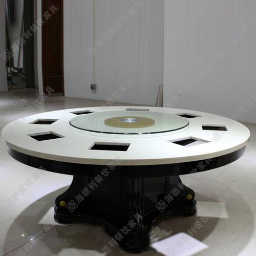 火锅桌 大理石电磁炉火锅桌椅韩式铸铁火锅桌椅 大理石咖啡厅椅烧烤桌