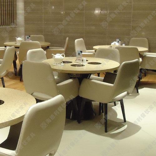 火锅店桌椅 电磁炉小火锅桌 大理石火锅桌子