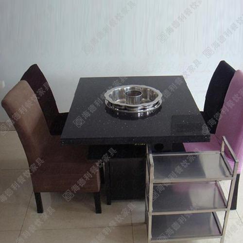 小天鹅火锅桌定做 火锅桌 大理石火锅桌 烧烤火锅桌 电磁炉火锅桌