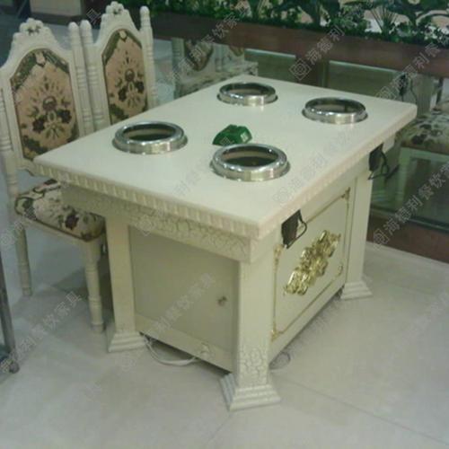 厂家直销定做大理石火锅桌电磁炉小火锅桌火锅店专用桌子餐桌