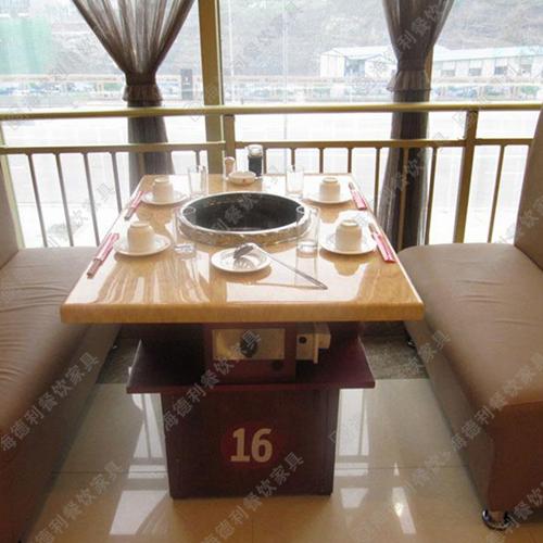 厂家直销 电动火锅桌 大理石火锅桌 电磁炉火锅桌 火锅餐桌 定做