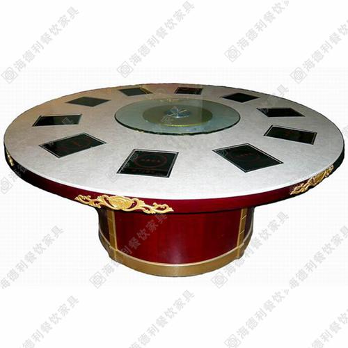 厂家直销韩式烧烤连锁店大理石火锅桌电磁炉小肥羊火锅桌椅批发