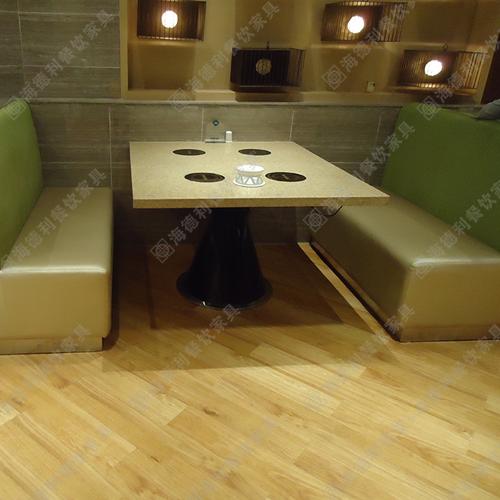 定做大理石火锅桌批发小电磁炉火锅桌子 千味涮火锅桌价格