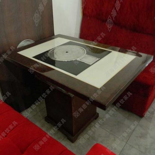 厂家直销电磁炉大理石一人一锅火锅桌