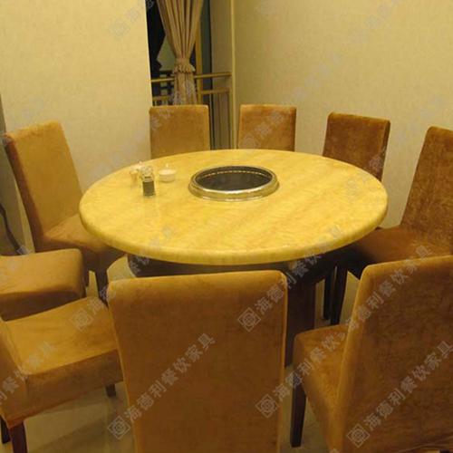 大理石火锅桌 电磁炉火锅桌 火锅店餐子