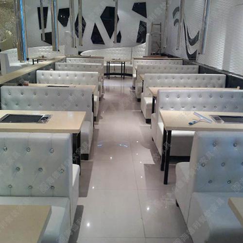 厂家直销电磁炉火锅桌 多人火锅餐桌椅