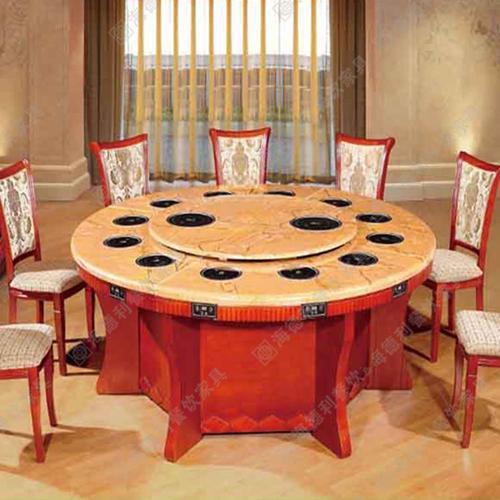 黑色人造大理石火锅桌重庆老火锅桌可定
