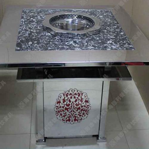 火锅桌 大理石火锅桌 高档电磁炉火锅桌