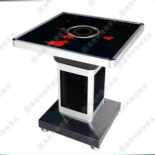 正方形大理石火锅桌 加厚电磁炉煤气灶