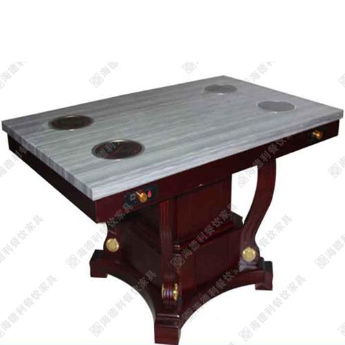人造大理石实木火锅煤气灶电磁炉火锅桌