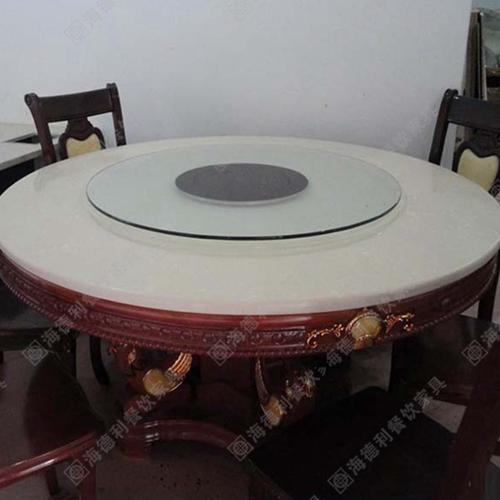 厂家直销火锅桌 火锅桌圆桌 带转盘无烟