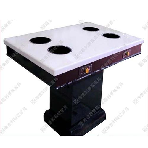 大理石烧烤桌 自助烧烤桌 大理石火锅桌