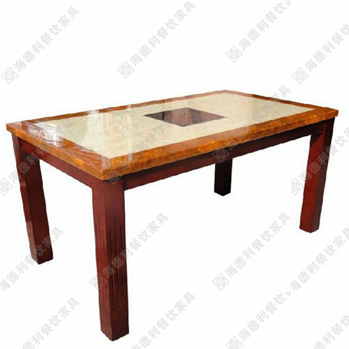 厂家直销人造大理石火锅桌餐饮家具电磁