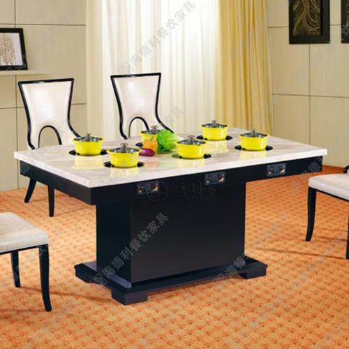 大理石火锅桌 韩式烧烤火锅桌组合批发