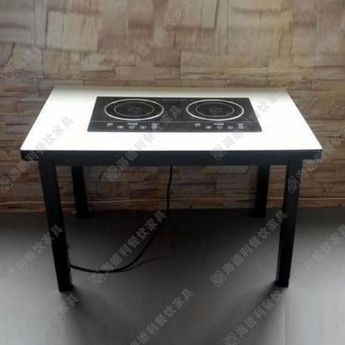 厂家直销大理石火锅桌椅 汉釜宫韩式烧