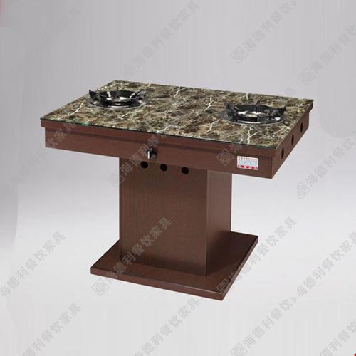 火锅桌电磁炉火锅桌 不锈钢火锅桌 大