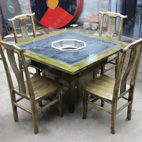大理石火锅桌 加厚电磁炉煤气灶火锅桌