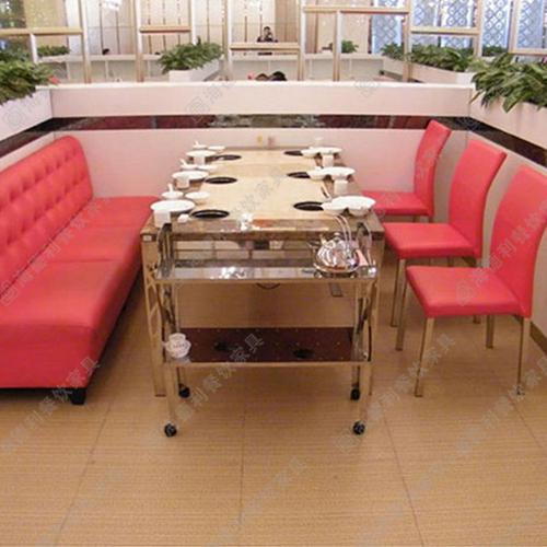 大理石火锅桌 小肥羊火锅桌椅组合 电磁