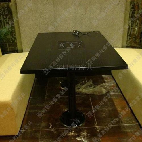 烧烤火锅一桌二用 大理石火锅桌 烧烤火