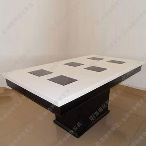 特价销售大理石火锅桌 电磁炉火锅桌椅