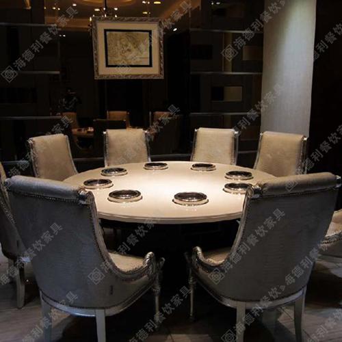 厂家直销 大理石火锅桌椅组合 电磁炉煤