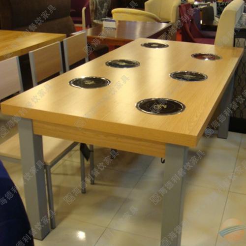 火锅桌桌椅 大理石火锅桌 电磁炉火锅