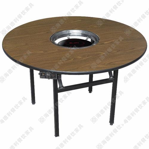防火板火锅桌电磁炉火锅桌 火锅桌椅批发 小火锅 一桌一锅